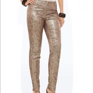Black Label Chico's Gold Brocade Pants